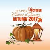 Kanadyjski dziękczynienie dzień 9th Październik Zdjęcia Stock