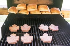 Kanadyjski hamburger Zdjęcie Royalty Free