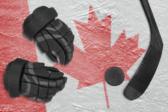 Kanadyjski hokejowy tło Obrazy Royalty Free