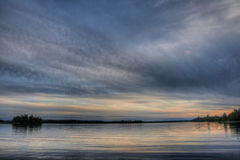 Kanadyjski jezioro Fotografia Stock