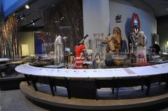 Kanadyjski muzeum historii wnętrze od Ottawa w Kanada fotografia royalty free