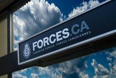 Kanadyjski siła znak zdjęcia stock