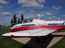 Kanadyjski Snowbird samolot Przy Reynold Alberta muzeum Wetaskiwin Obraz Royalty Free