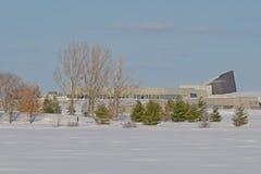 Kanadyjski wojenny muzeum i park w śniegu obrazy royalty free