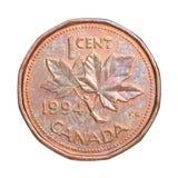 Kanadyjskich centów moneta obrazy stock