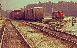 Kanadyjskie linie kolejowe Zdjęcia Royalty Free