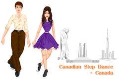 Kanadyjskiego pary spełniania kroka Kanadyjski taniec Kanada Obrazy Royalty Free