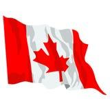 kanadyjskiej flagi Zdjęcie Stock