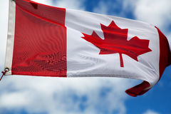 kanadyjskiej flagi Zdjęcia Royalty Free