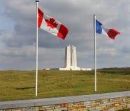 kanadyjskiej France pamiątkowej grani vimy wojna Fotografia Stock