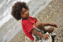 Kanak aboriginal child in  New Caledonia Stock Photography