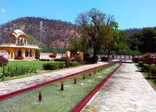 Kanak vrindavan garden, Jaipur Rajasthan India. Kanak vrindavan is a beautiful garden situated next to kanak vrindavan mahal. Founded by king swai jai singh in Stock Images