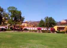 Kanak vrindavan garden, Jaipur Rajasthan India. Kanak vrindavan is a beautiful garden situated next to kanak vrindavan mahal. Founded by king swai jai singh in Stock Photo