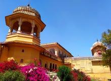 Kanak vrindavan mahal, Jaipur Rajasthan India. Around 275 years old castle built by maharaja swai jai singh is called kanak vrindavan mahal after the name of his Stock Photo