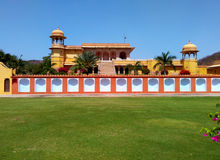 Kanak vrindavan temple, Jaipur Rajasthan India. Kanak vrindavan temple as seen from kanak vrindavan garden. Built by king swai jai singh in 18th century and Royalty Free Stock Photography