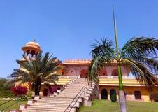 Kanak vrindavan temple, Jaipur Rajasthan India. Kanak vrindavan temple with its its beautiful garden situated next to kanak vrindavan mahal. Built by king swai Royalty Free Stock Photos