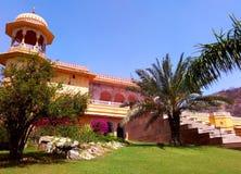 Kanak vrindavan temple, Jaipur Rajasthan India. Kanak vrindavan temple with its its beautiful garden situated next to kanak vrindavan mahal. Built by king swai Royalty Free Stock Images
