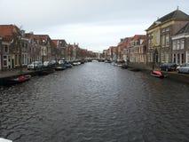 Kanal Alkmaar royaltyfri fotografi