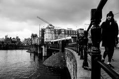 Kanal Amsterdam Arkivfoto