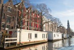 Kanal in Amsterdam Lizenzfreies Stockfoto
