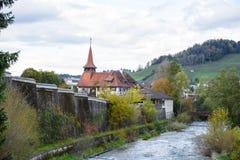 Kanal in Appenzell lizenzfreie stockfotografie