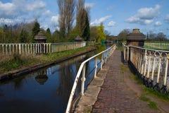 Kanal-Aquädukt stockfotos