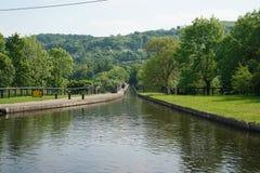 Kanal auf Pontcysyllte-Aquädukt Llangollen Wales Großbritannien lizenzfreie stockfotos