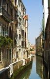 Kanal auf Venedig Stockfotografie
