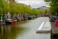 Kanal av Amsterdam Royaltyfria Foton