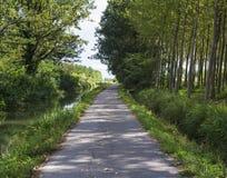 Kanal av Bereguardo (IMilan) Arkivbild