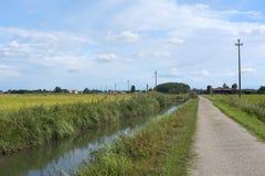 Kanal av Bereguardo (IMilan) Royaltyfri Foto