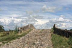 Kanal av Bereguardo (IMilan) Arkivfoto