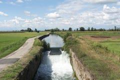 Kanal av Bereguardo (IMilan) Royaltyfri Fotografi