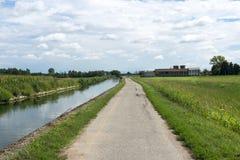 Kanal av Bereguardo (IMilan) Arkivbilder