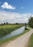 Kanal av Bereguardo (IMilan) Royaltyfria Bilder