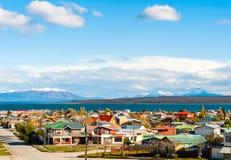 Kanal av Magellan, Puerto Natales, Patagonia, Chile Royaltyfri Fotografi