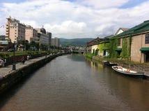 Kanal av Otaru, Japan royaltyfri bild