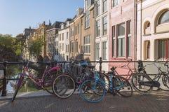 Kanal av Utrecht i morgonen royaltyfria foton