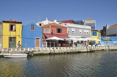Kanal in Aveiro Lizenzfreie Stockfotografie