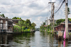Kanal Bangkok Stockfotografie