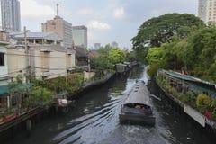 Kanal Bangkok Arkivbilder