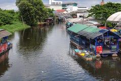 Kanal in Bangkok Stockfotografie