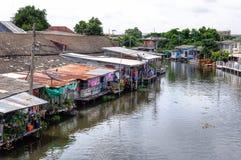 Kanal in Bangkok Stockbilder
