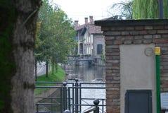 Kanal bei Mozzanica lizenzfreie stockfotografie