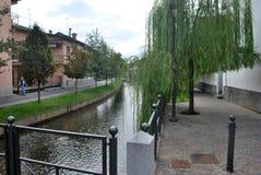 Kanal bei Mozzanica stockbild