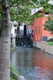 Kanal bei Mozzanica lizenzfreie stockbilder