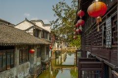 Kanal bei Zhouzhuang lizenzfreies stockfoto