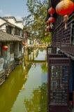Kanal bei Zhouzhuang lizenzfreie stockfotos