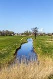 Kanal beim Achterwasser auf der Insel von Usedom Lizenzfreies Stockbild