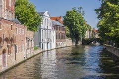 Kanal in Brügge Stockfotografie